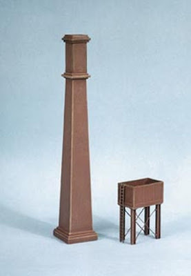 Ratio 314 Industrial Chimney & Water Tank (N gauge plastic kit)
