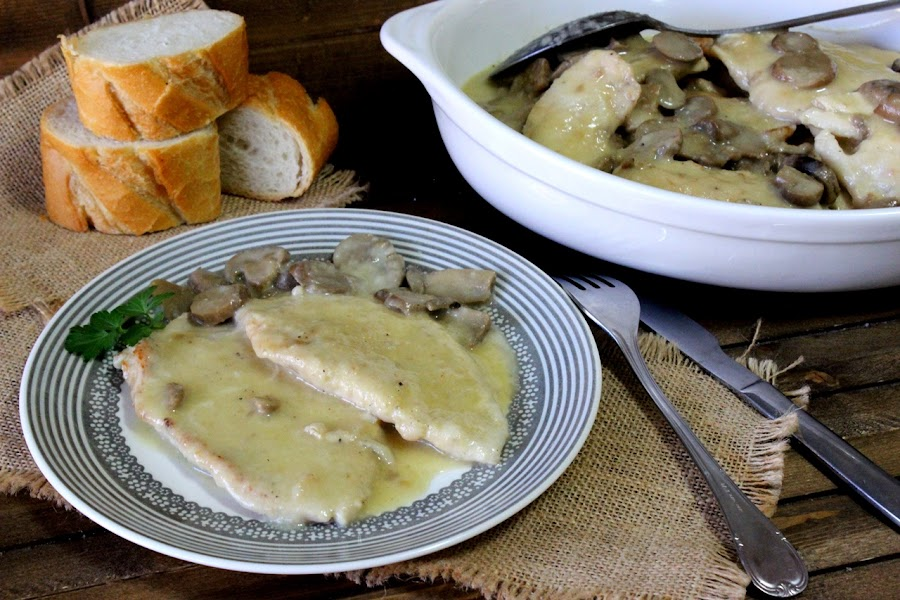 Pechugas de pollo a la sidra. Julia y sus recetas