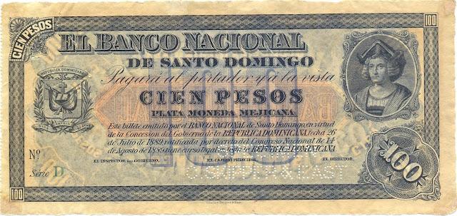 100 Dominican Pesos Silver Certificate