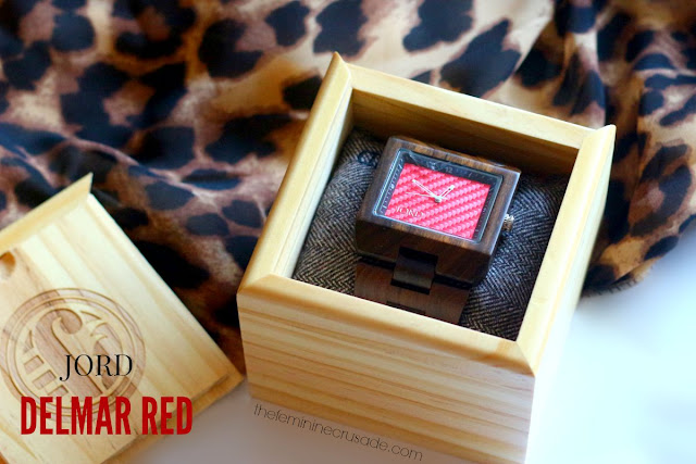 JORD Delmar Red Wood Watch