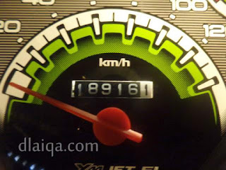 odometer di masjid Al Furqon, Bandar Lampung