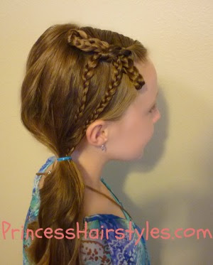 Braid Bow With Side Ponytail