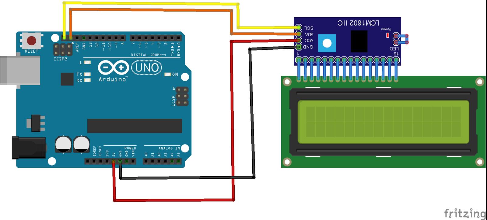 Cara Simple Program LCD i2C 16×2 Menggunakan Arduino – KelasRobot com