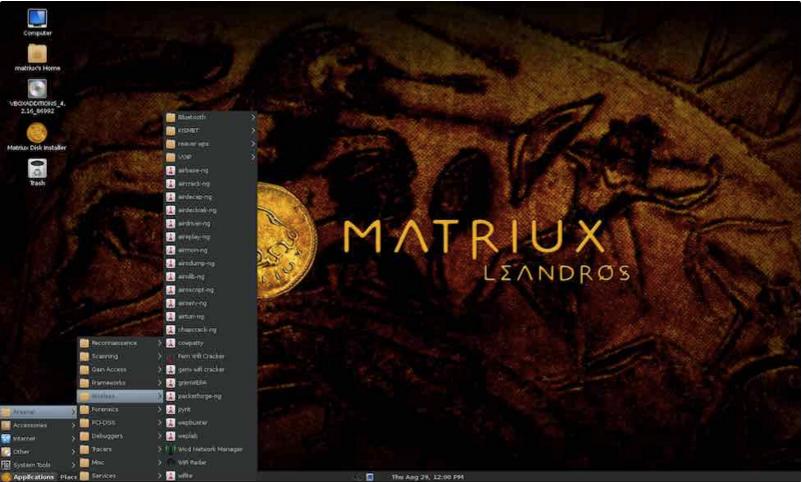sistema operativo Matriux