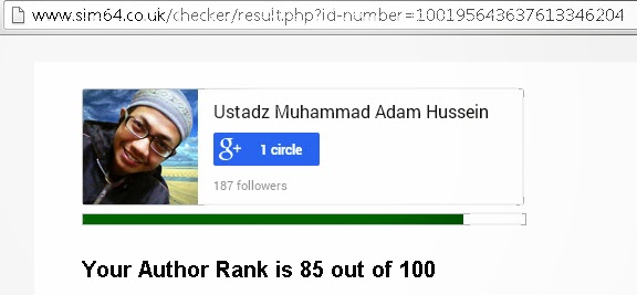 Hasil Google Plus Rank