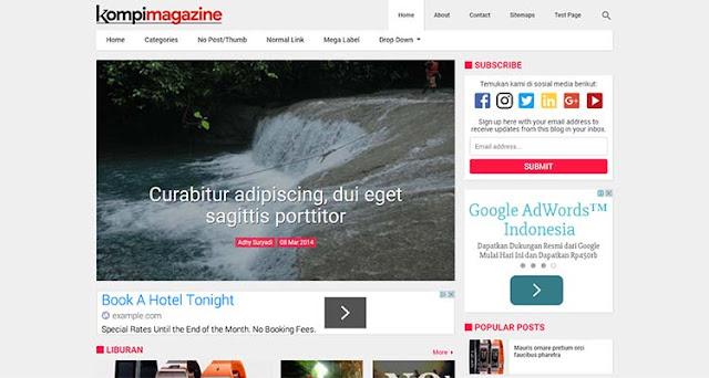 Template Blogger Premium Kompi Magazine