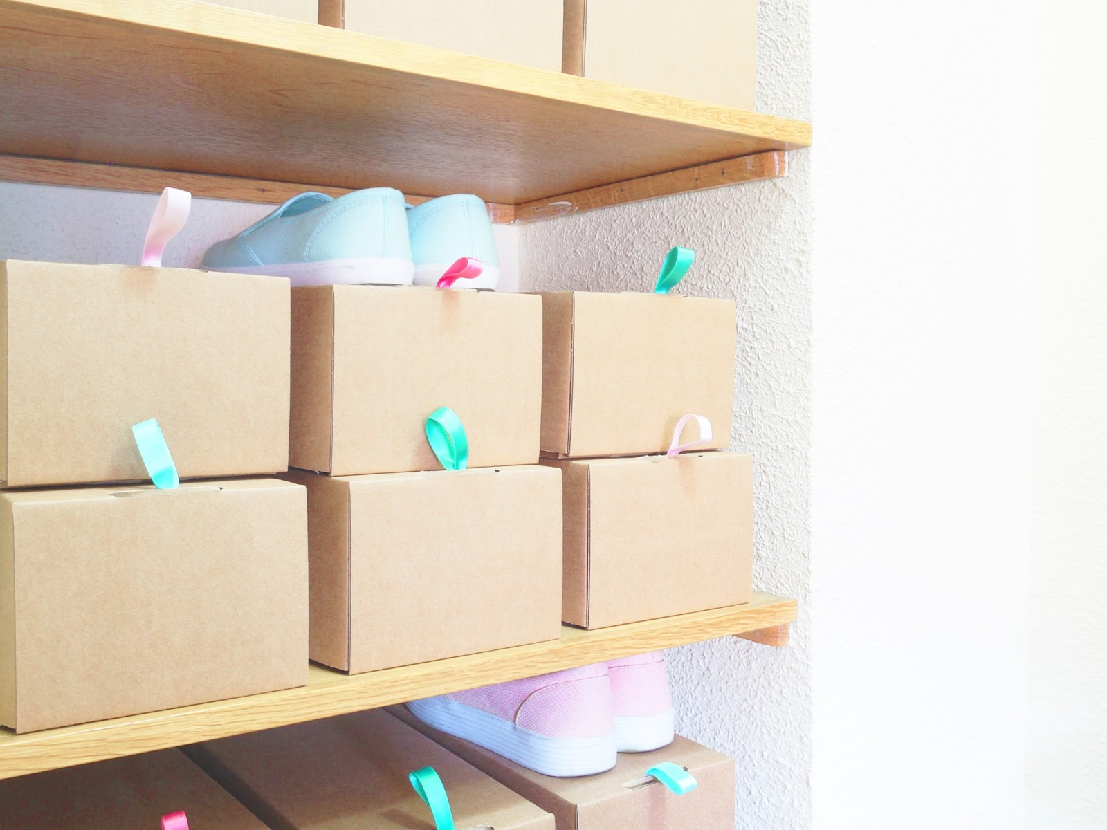 Diy Zapatero Visto Con Cajitas De Cart N Handbox Craft Lovers  # Muebles Diy De Carton