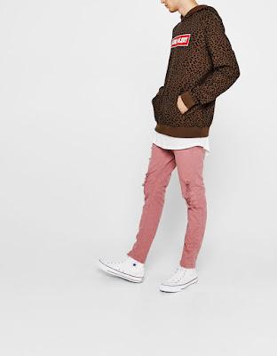 pembe renk skinny jeans