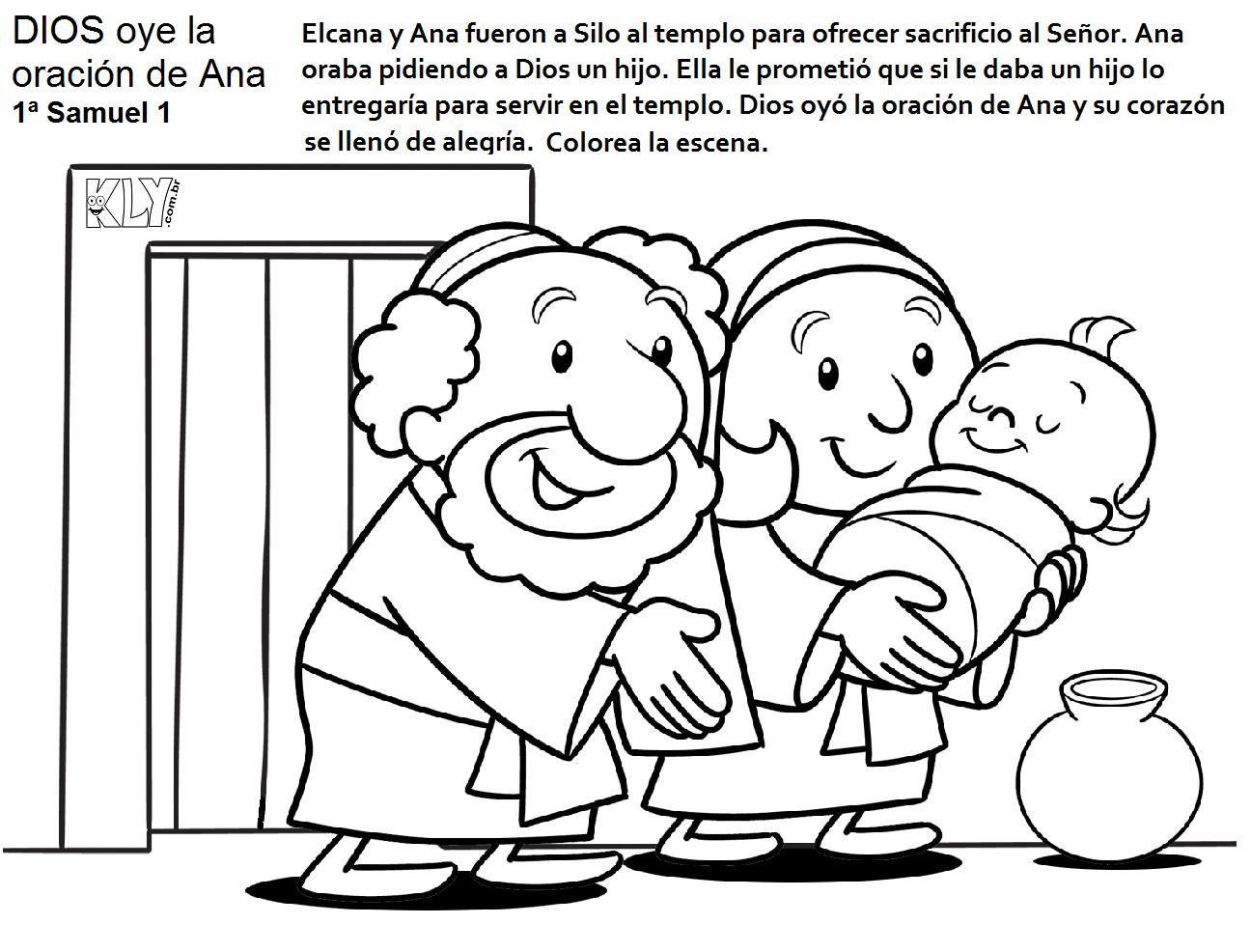 Historia Biblica De Samuel Para Colorear