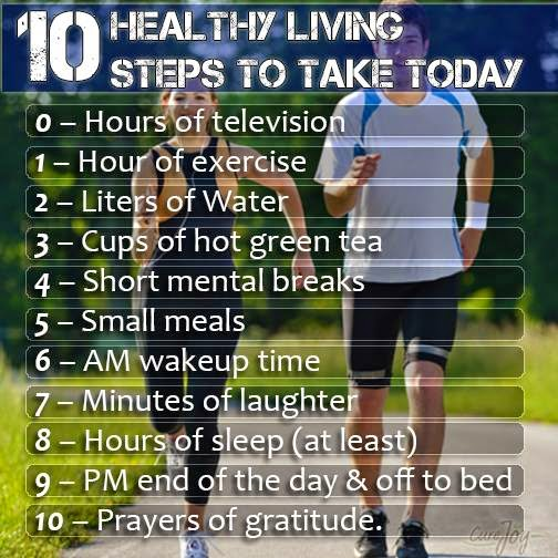 Search 10 Steps To Healthy Living