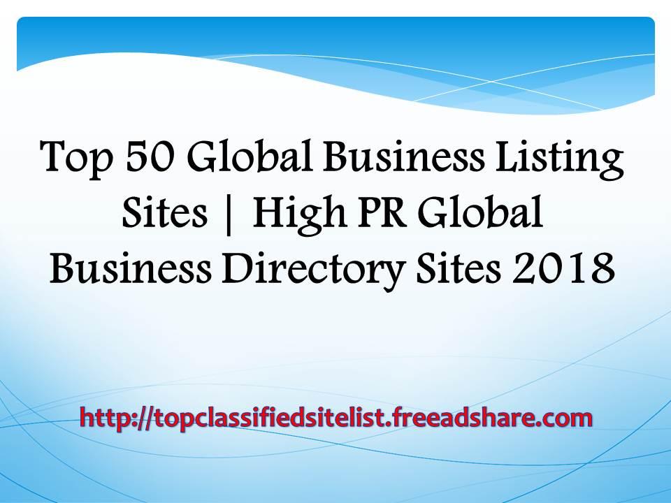 Top 50 Global Business Listing Sites 2018 | High PR Global