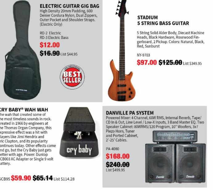 Drop Ship - Musical - Instruments - Wholesale - Distribution