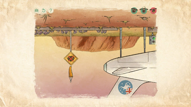 Screenshot of Uluru in the game Home Sheep Home 2