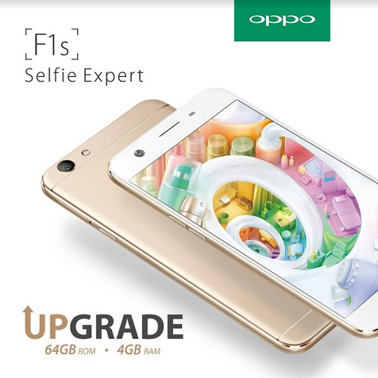 OPPO F1s Now with 4GB RAM and 64GB ROM; Yours for Php13,990