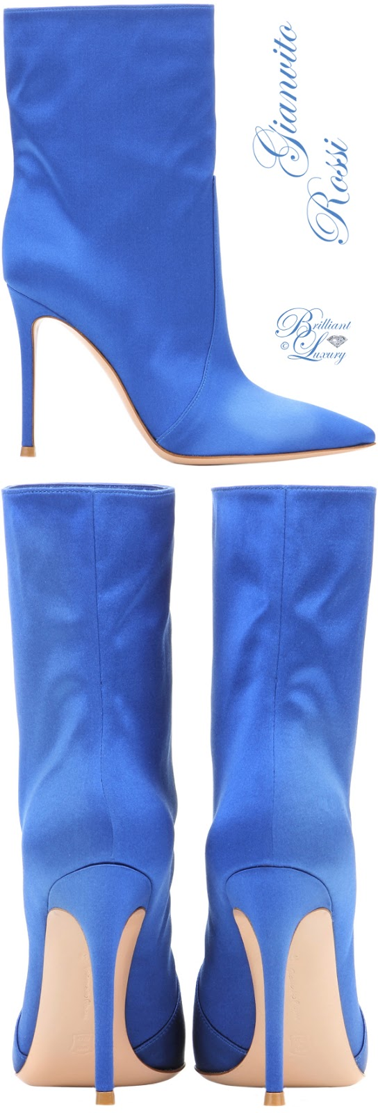 Brilliant Luxury ♦ Gianvito Rossi Melanie Satin Ankle Boots