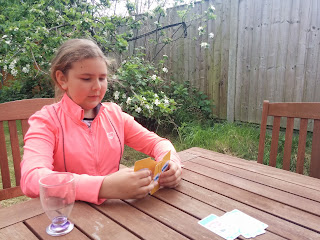 Top Ender looking serious whilst playing Happy Families