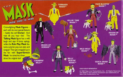 Catalogo di action figure anni '90 dedicate a ''The Mask''