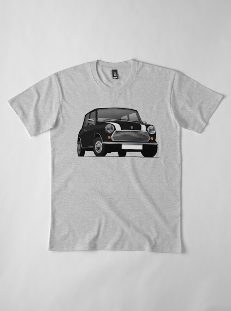 Black with stripes Morris 850 - Austin 850 t-shirt