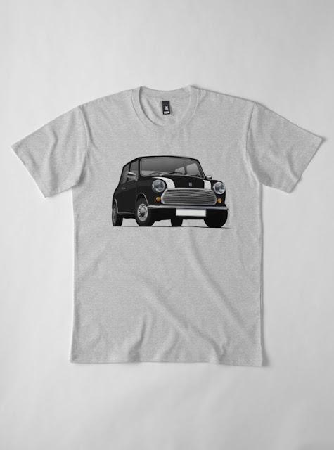 Black with stripes Morris 850 - Austin 850 t-shirt