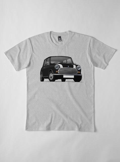 Black Cooper stripes Morris 850 - Austin 850 t-shirt