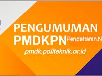 Pengumuman Hasil Seleksi PMDK Politeknik Negeri 2017/2018