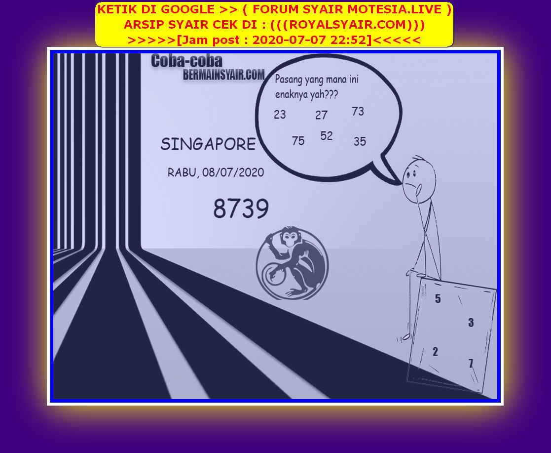 Kode syair Singapore Rabu 8 Juli 2020 214