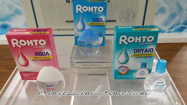 3 types of Rohto eye drops