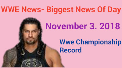 WWE News: Biggest News of the day - November 3, 2018