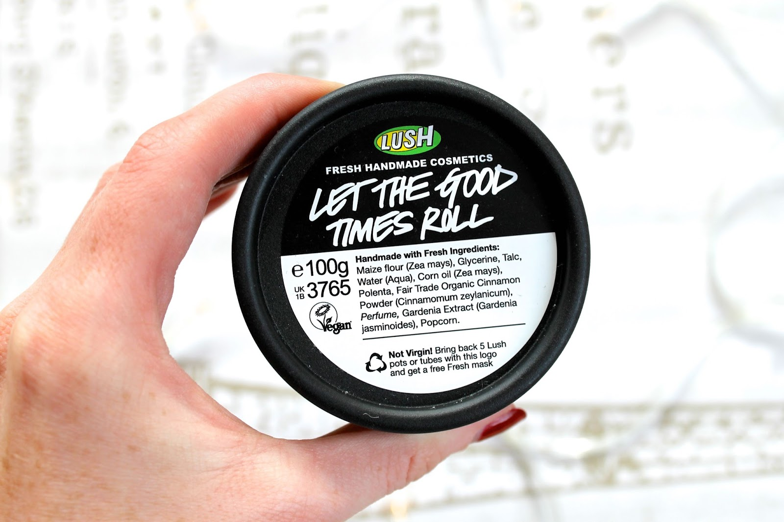LUSH let the good times roll skincare review