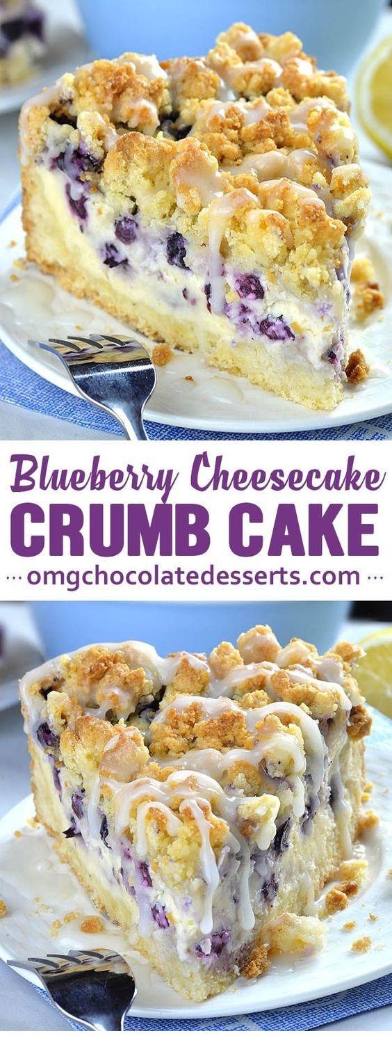 Blueberry Cheesecake Crumb Cake