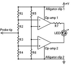 High Voltage Probe Schematic
