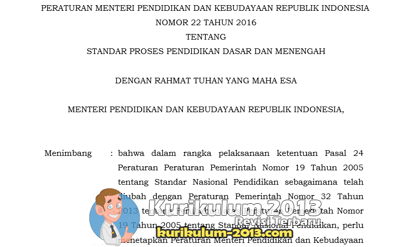 Download Permendikbud Terbaru Tentang Pedoman Penyusunan RPP