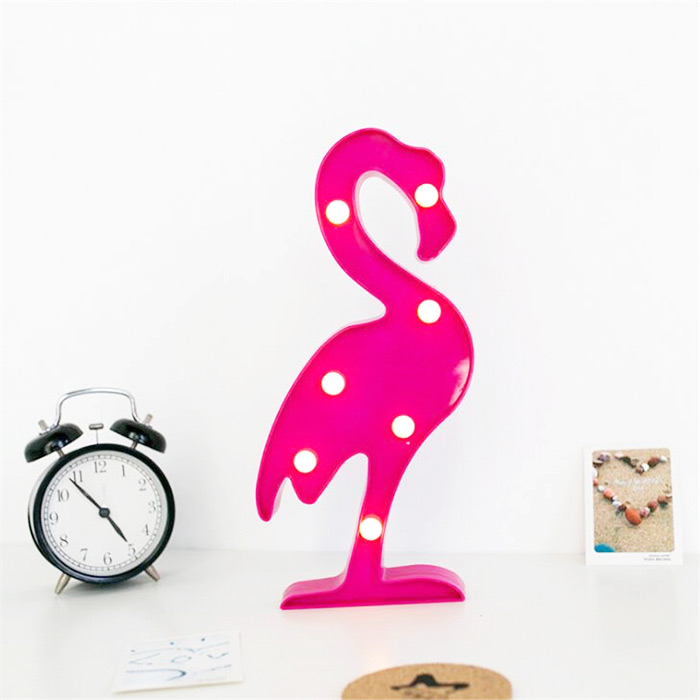 Luminárua led flamingo, divertida e muito linda!