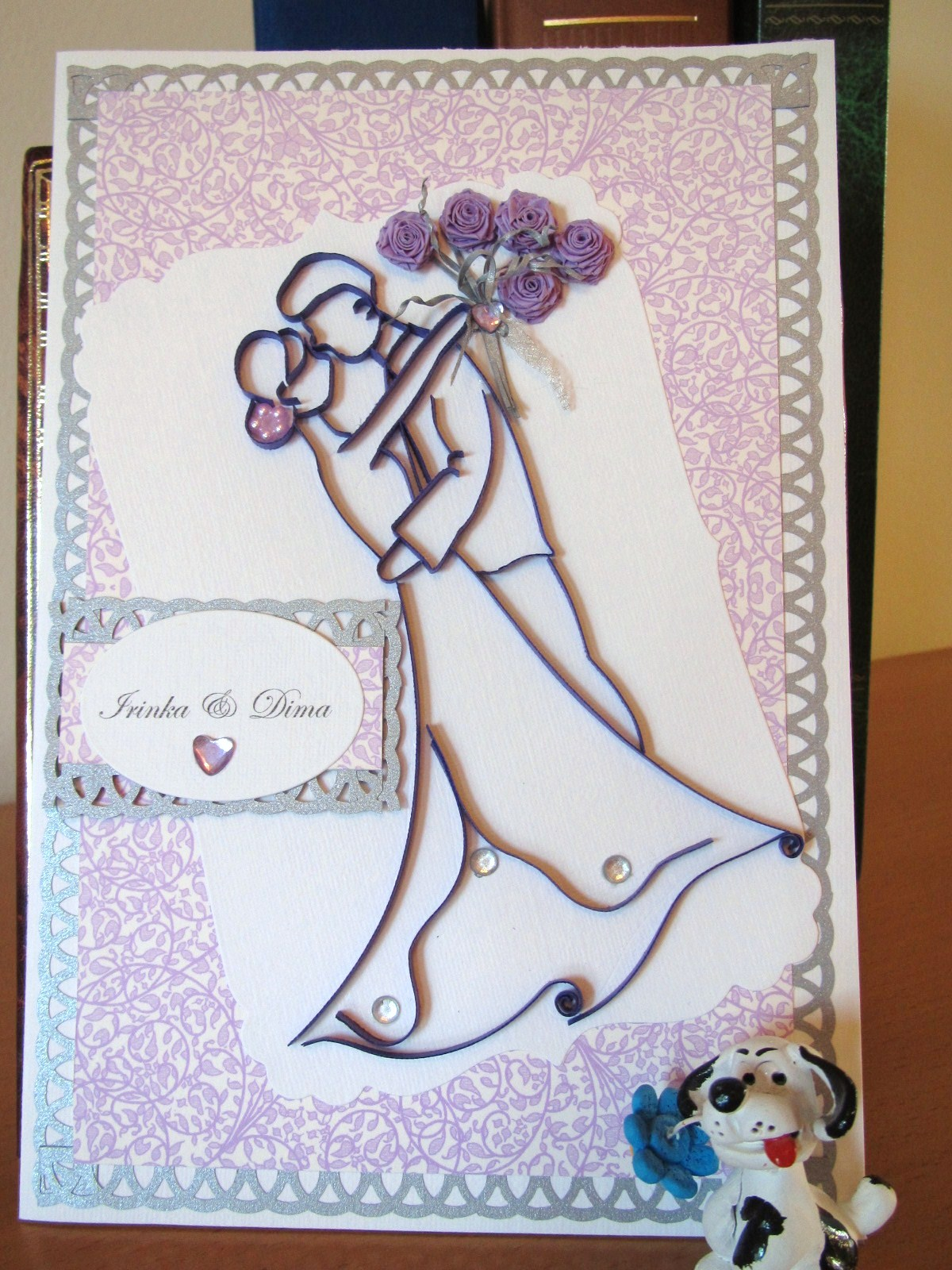 Quilled Wedding Cards Dancing