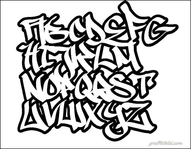 Graffiti schrift abc, graffiti alphabet a-z, font, alphabet, style