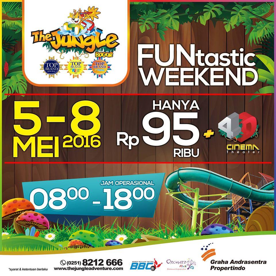 Promo Jungle WaterPark Weekend Akhir Pekan HTM Rp 95 Ribu Plus 4D Cinema