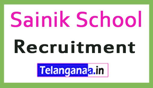 Sainik School Recruitment Notification