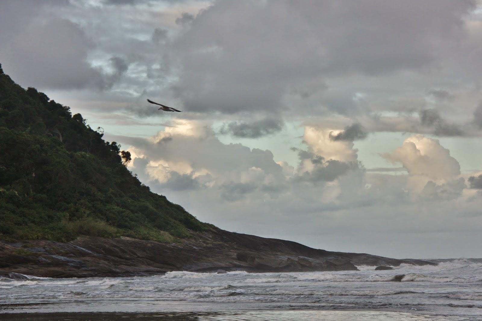 Praia do Guaraú, em Peruíbe