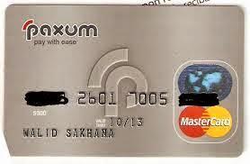 بطاقات إئتمانية مجانا بنوك مختلفة paxum.jpg