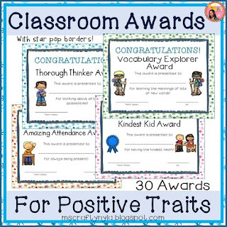 Awards for positive traits