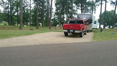 Persimmon Hill campground Enid Lake MS