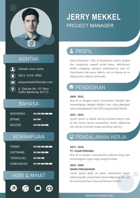 Contoh CV Lamaran Kerja Modern 3 Curriculum Vitae