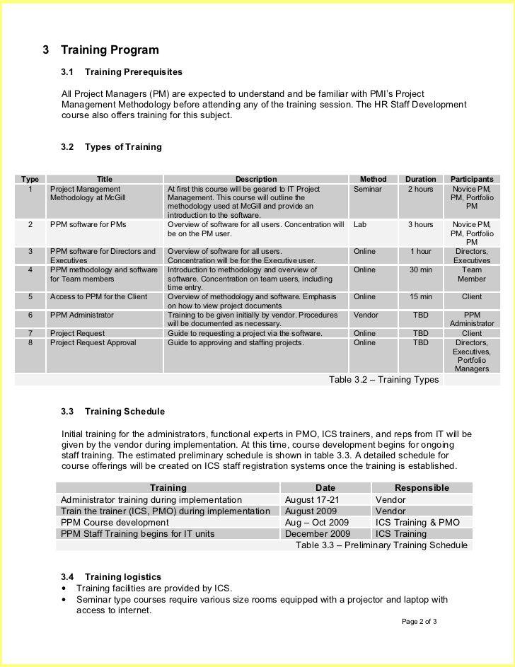 Training Plan Template Training Plan Template Training Outline - training outline template
