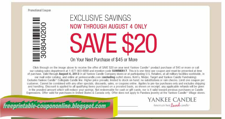 picture regarding Yankee Candle Coupon Printable named Printable yankee candle discount codes 2019