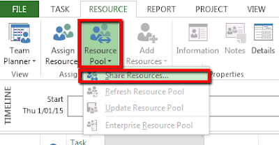Resource Pool using MS Project