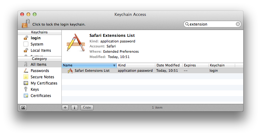Remove Safari extensions list- Reinstall Safari