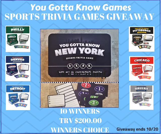 You Gotta Know Games Giveaway