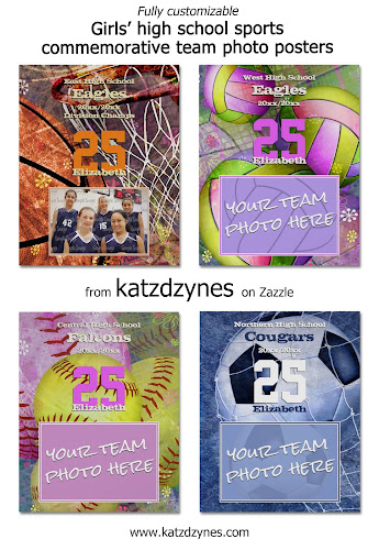 Girls' sports commemorative team photo custom posters