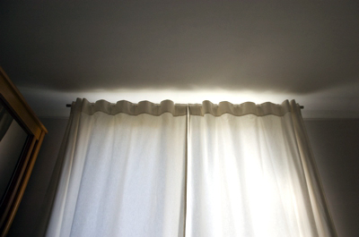 pikoupan s rideaux doubl s en coton blanc. Black Bedroom Furniture Sets. Home Design Ideas