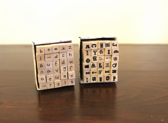 mini alphabet stamps for a paper craft
